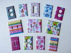 Light switch & outlet covers - sooo cute! Easy tutorial!