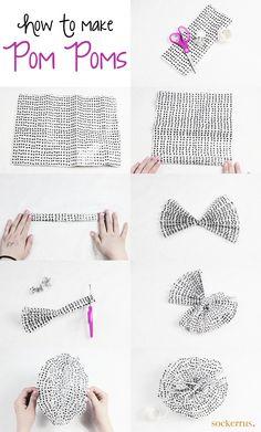 Pompoms beskrivning How To Make A Pom Pom, Vand, Pom Poms, Baby Kids, Special Occasion, Diy And Crafts, Crochet Hats, Inspiration, Birthday Ideas