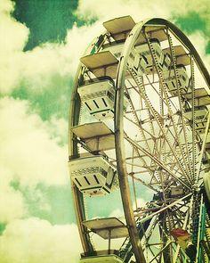 """'""""Cloudy Sky Ride""""' by My Dream Car, Dream Cars, Summer Of Love, Summer Fun, Sky Ride, Fair Rides, Carnival Rides, Circus Theme, Roller Coaster"""