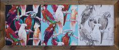 Bestell Nr. 001  Tapete Bild Vlies Papagei Kakadu Rasch Quer format Gross. Grösse 1710 mm x 710 mm    CHF. 495.00