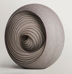 Abstract contemporary ceramic sculptures created by British artist Matthew Chambers.