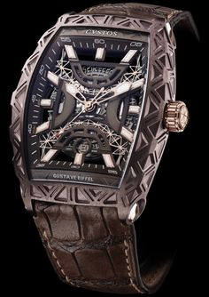 Gustave Eiffel Steel Bronze with Red Gold components Limited Edition