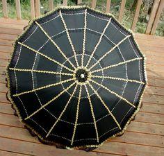 steampunk umbrella  ::: OutsaPop Trashion ::: DIY fashion by Outi Pyy :::: kesäkuu 2008