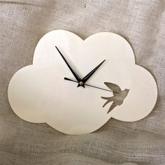 Cloud Clock- Cream - by RedRevival on madeit so want this