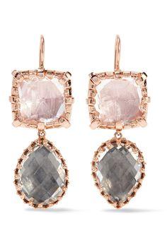 18-karat Gold-dipped Quartz Earrings - one size Larkspur & Hawk WhpAc