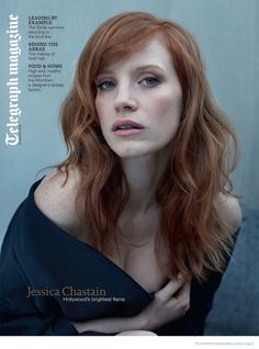 JESSICA CHASTAIN IS 'RED HOT' IN MOODY PHOTO SHOOT FOR TELEGRAPH MAGAZINE