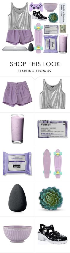 """you kissed me and suddenly i was a lilac sky"" by mediocreloveinterest ❤ liked on Polyvore featuring Care Label, Monki, Korres, Retrò, Christian Dior, Dot & Bo, Lenox and modern"