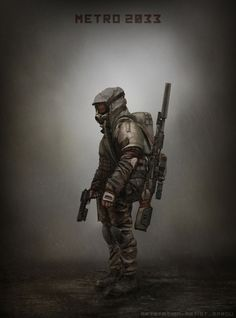 Stalker – sci-fi concept by Mark Mazur Character Concept, Character Art, Concept Art, Character Design, Character Inspiration, Metro 2033, Cyberpunk, Larp, Airsoft