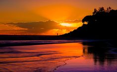 images of sunsets | Download Sunset Wallpaper wallpaper, 'Watching Sunset'.