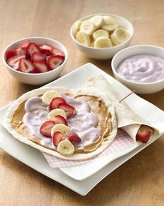 Protein-rich spreads like peanut butter and yogurt get wrapped up with fresh fruit in this time-saving take on a kid-friendly crepe. Get ingredients for nutritious after-school snacks at Walmart