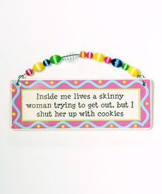 Take a look at this 'Skinny' Plaque by Tumbleweed Pottery on #zulily today!