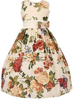 Hunputa Baby Girls Summer Casual Dresses Cotton Short Sleeves Flower Dresses