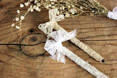 country rustic wedding pen for your guest book .  romantic lace rustic pen by montanasnow