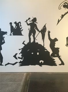 "Kara Walker, detail of ""The Jubilant Martyrs of Obsolescence and Ruin"" (2015) (photo by Janet Tyson/Hyperallergic)"