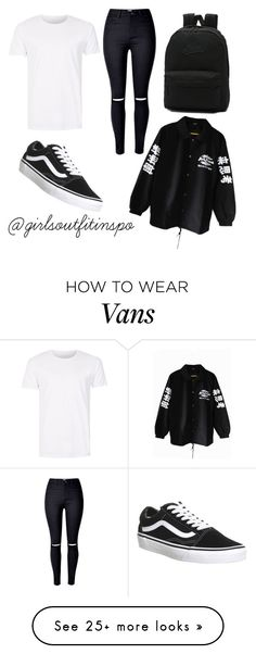 """""""#01"""" by girlsoutfitinspo on Polyvore featuring Vans and SELECTED"""