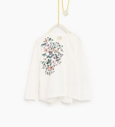 9ef3bc967 Camiseta flores y mariposas-CAMISETAS-NIÑA