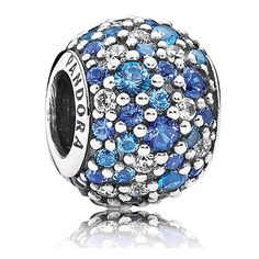 25c7055cc Capture the colors of the beautiful summer sky with each sparkling blue CZ  crystal! Dazzling on your PANDORA bracelet this PANDORA Sky Mosaic Pavé  Charm is ...