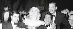 Marilyn with Jerry Lewis, Dean Martin and Milton Berle at the Friars Club Testimonial Dinner, March 11th 1955.
