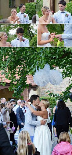 wedding ceremony  www.lena-heinemann.de  Retro-Schickes Hochzeitsfest auf Schloss Aschhausen