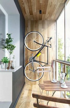 Tendência: decore a varanda com a bicicleta