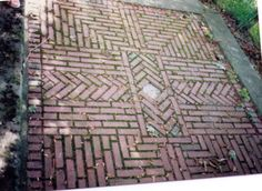 Another Brick Garden Rug by Margaret Kerr