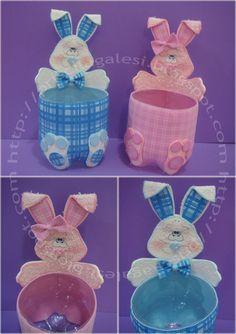 porta ovos para a páscoa Ideas Para Fiestas, Easter, Craft, Easter Bunny, Rabbits, Recycling, Manualidades, Ideas Party, Easter Activities