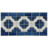 Found it at Wayfair - Castle Random Sized Porcelain Glazed Mosaic in White & Cobalt