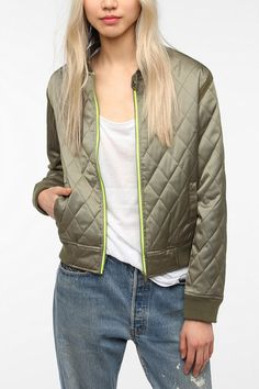 BDG Quilted Bomber Jacket