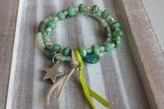Armband böhmische Glasperlen  von Traumschmuck - Purpurrot    auf DaWanda.com