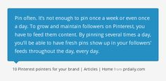 10 Pinterest pointers for your brand | Articles | Home