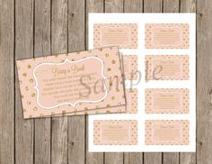 Blush, Pink and Gold, Glitter, Bring a Book Instead of a Card, Baby Shower, 3.5x2, Printable, Instant download Babyshower Invites, Baby Shower Invitations, Pink And Gold, Blush Pink, Gold Glitter, Bring It On, Printables, Unique Jewelry, Handmade Gifts
