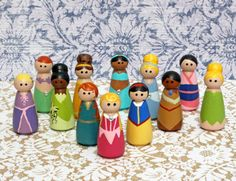 Peg Princess  Set of 8 by AllieGrayCreations on Etsy, $36.00