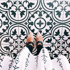 I have this thing with floors. And prints. And shoes.