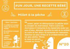 #recette #bébé du jour #20 : Petit dessert au Millet et à la pêche