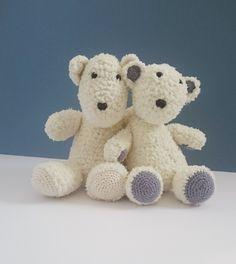 polar bear crochet pattern **pattern only** by KrigsCrochet on Etsy