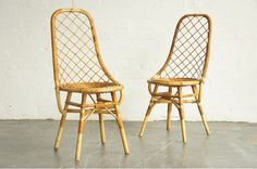 (sold) Pair of French Bamboo Chairs