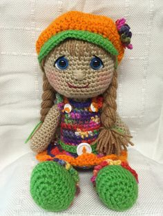 Crocheted Maria Doll found on etsy @memawscountrycrafts