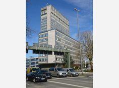 Das ThyssenKrupp-Gebäude an der Kruppstraße in Essen.