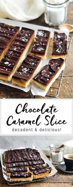 Chocolate Caramel Slice. Also known as Millionaire's Shortbread | eatlittlebird.com