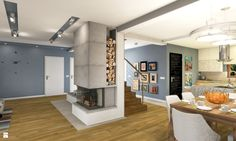 Hall + Kuchnia + Salon - zdjęcie od Atelier Studio No.1 - Salon - Styl Nowoczesny - Atelier Studio No.1