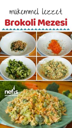 Brokoli Mezesi (Mükemmel) (videolu) – Nefis Yemek Tarifleri Broccoli Mezesi (Perfect) (with video) How to make a recipe? Appetizer Recipes, Salad Recipes, Meze Recipes, Yummy Recipes, Soup Appetizers, Easter Recipes, Recipes Dinner, Broccoli Salad, Healthy Salads