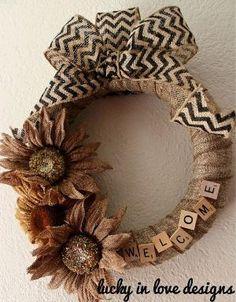 Burlap Wreath by audra