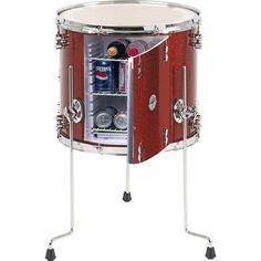 Repurposed Drum... into a mini bar fridge!