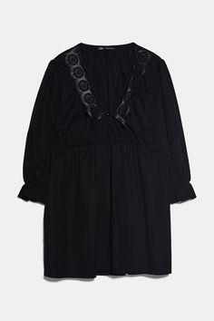 DRESS WITH MATCHING COLLAR | ZARA Türkiye