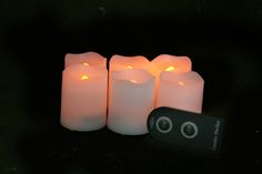 Flameless, remote-controlled votive candles! White Candles, Votive Candles, Glow Bracelets, Glow Sticks, Love And Marriage, Party Supplies, Remote, Friends, Amigos