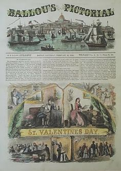 In the Swan's Shadow: Ballou's Pictorial Valentine's Day edition 1856.
