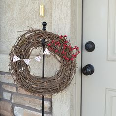 Versatile Valentines Day Wreath-bend berries for Christmas