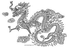 Chinese Arts Page 6 - Dragon to color kasha8888 Apr 18, 2012 Color between the lines have fun