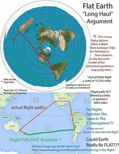 The map Flat Earth