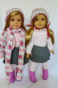"""Doll clothes ag 18"""" #skirt #blouse sweater hat scarf made for #american girl doll,  View more on the LINK: http://www.zeppy.io/product/gb/2/171944849052/"""